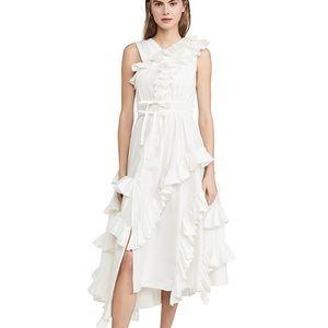 Ulla Johnson white Imogen ruffle dress